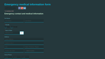 health and lifestyle templates other emergency medical info form