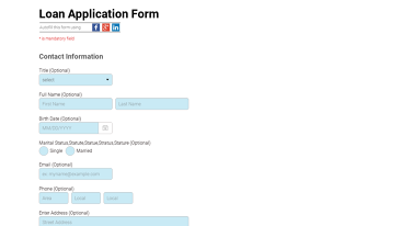 real estate templates application form loan application form 5